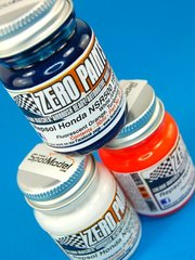 Zero Paints: Paints set - Honda NSR 500 Repsol 1998 - Orange + White + Blue - 3x30ml - for Tamiya reference TAM14071