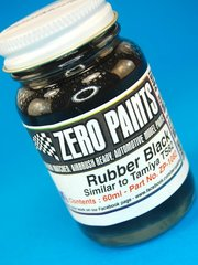 Zero Paints: Pintura - Negro goma - Rubber Black Paint - Similar to TS-82 - 1 x 60ml - para Aerógrafo