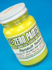 Paint by Zero Paints - Renault Yellow Formula 1 70s-80s RS01-RE20 - 60ml for Airbrush
