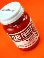 Zero Paints: Paint - Alfa Romeo Rosso - Red - 1 x 60ml - for Airbrush