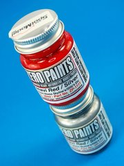 Zero Paints: Paints set - Nissan Nismo Skyline 350Z Xanavi - Red + Silver - 2x30ml - for Airbrush