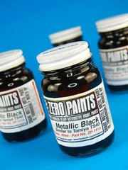 Zero Paints: Pintura - Negro metalizado - Metallic Black - Similar a TS-40 - 1 x 60ml - para Aerógrafo