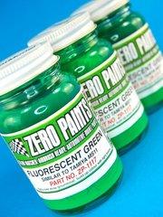 Zero Paints: Pintura - Verde fluorescente - Fluorescent Green - 1 x 60ml - para Aerógrafo