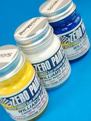 Zero Paints: Set de pinturas - Williams FW14B - Blue + white + yellow - Azul + blanco + amarillo - 3x30ml - para Aerógrafo