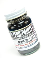 Zero Paints: Pintura - Gris metalizado - Metallic Grey Paint - Similar a MS5 - 1 x 60ml - para Aerógrafo