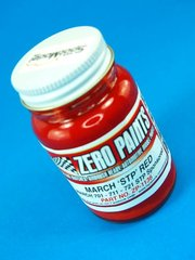 Zero Paints: Pintura - March F1 Red STP Sponsored - Rojo - 60ml - para Aerógrafo