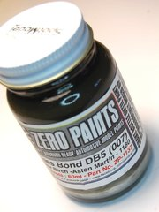 Zero Paints: Paint - Aston Martin Silver Birch - James Bond 007 DB5  - Code: 1180 - 60ml - for Airbrush