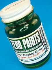 Zero Paints: Pintura - Verde ingles oscuro - Dark British Racing Green Paint - 1 x 60ml - para Aerógrafo
