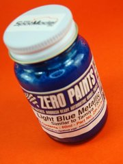 Zero Paints: Pintura - Azul metalizado claro - Light Metallic Blue - Similar a TS-54 - 60ml - para Aerógrafo