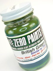 Zero Paints: Pintura - Verde ingles - British Green - Similar to TS-9 - 1 x 60ml - para Aerógrafo