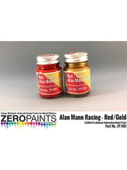 Zero Paints: Paints set - Ford GT40 Alan Mann Racing - Red + Gold - 2x30ml - for Airbrush