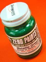 Zero Paints: Pintura - Verde metalizado - Metallic Green - Similar a TS-20 - 1 x 60ml - para Aerógrafo