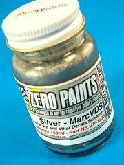Zero Paints: Pintura - Ford GT40 Marc VDS Racing : Plateado - 1 x 60ml - para Aerógrafo