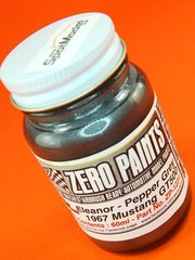Zero Paints: Paint - Eleanor 1967 Ford Mustang Shelby GT-500 Pepper Grey - 1 x 60ml - for Airbrush