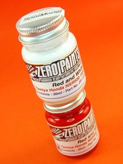 Zero Paints: Set de pinturas - Honda NSR500 1984 - Red + white - Rojo + blanco - 2x30ml - para Aerógrafo