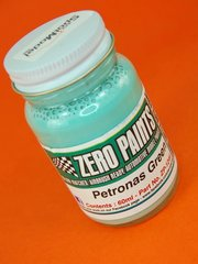 Zero Paints: Paint - Petronas Emerald Green - 1x60ml - for Airbrush