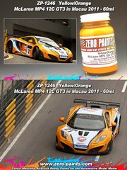 Zero Paints: Paint - McLaren MP4 12C GT3 Macau 2011 - 1 x 60ml - for Fujimi references FJ125633, 125633, 12563 and RS-41