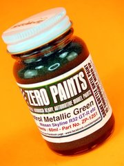 Zero Paints: Paint - Castrol Metallic Green - 60 ml - for Airbrush image