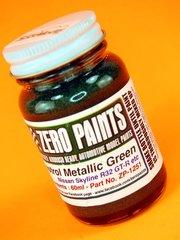Zero Paints: Paint - Castrol Metallic Green - 1 x 60ml - for Airbrush image