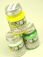 Zero Paints: Paints set - Audi A4 DTM Team Schaeffler - Yellow + White + Green - 3x30ml - for Shunko Models decal SHK-D159