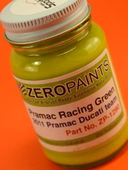 Zero Paints: Paint - Pramac Racing Green Ducati Team Pramac 2011 - 1 x 60ml - for airbrush