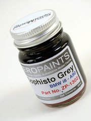 Zero Paints: Paint - Sophisto Grey for BMW i8 - 1 x 30ml - for airbrush