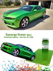 Zero Paints: Pintura - Verde Chevrolet Camaro Synergy Green - 1 x 60ml - para las referencias de Revell REV07088 y 07088