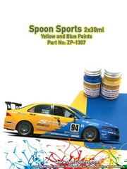Zero Paints: Paints set - Spoon Sports Blue and Yellow - 2x30ml
