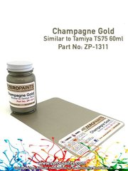 Zero Paints: Paint - Champagne Gold - 1 x 60ml - for airbrush