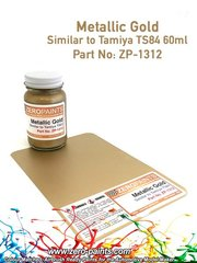 Zero Paints: Paint - Metallic Gold Paint - Similar to TS-84 - 60ml - for airbrush image