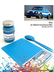 Zero Paints: Pintura - Azul Ford Olympic Blue - 60ml - Rally de Inglaterra RAC 1973 - para la referencia de Belkits BEL006