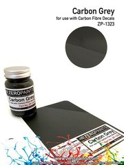 Zero Paints: Paint - Carbon Fibre Grey - 60ml - for airbrush image