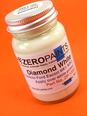 Zero Paints: Paint - Ford Diamond White - 60ml - Great Britain RAC Rally 1972 - for Belkits reference BEL007