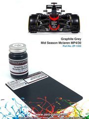 Zero Paints: Pintura - Gris grafito Graphite Grey Mid Season McLaren MP4/30 - 1 x 60ml - para las referencias de Ebbro EBR20014 y 20014