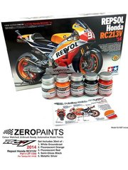 Zero Paints: Set de pinturas - Honda RC213V 2014 - 5 x 30ml - para las referencias de Tamiya TAM14130 y 14130