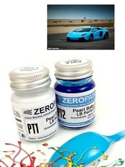 Zero Paints: Paints set - Lamborghini LB Performance Pearl Baby Blue - 2x30ml image