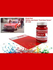 Zero Paints: Paint - Starsky and Hutch Ford Gran Torino Bright Red - 60ml - for Revell kit