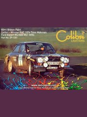 "Zero Paints: Paint - Brown for Ford Escort Mk I RS1600 ""Colibri Lighters"" - for Reji Model kit REJI-247"