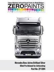 Zero Paints: Paint - Mercedes-Benz Actros Brilliant Silver Paint - 60ml - for Italeri reference 3905