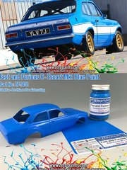 Zero Paints: Pintura - Azul Fast and Furious 6 Ford Escort Mk 1 Blue - 1 x 60ml - para las referencias de Belkits BEL006, BEL-006, BEL007 y BEL-007