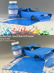 Zero Paints: Paint - Liberty Walk GC111 Skyline Ken Mary Ice Blue Pearl - 60ml - for Aoshima kit AOS01147