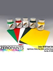 Zero Paints: Set de pinturas - Lotus Ford 107B - para la referencia de Tamiya TAM20038