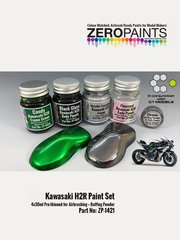 Zero Paints: Paints set - Kawasaki H2R - 4 x 30ml - for Tamiya references TAM14131 and 14131 image
