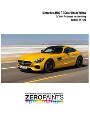 Zero Paints: Set de pinturas - Amarillo Mercedes-AMG GT Solar Beam Yellow - 2x30ml - para kit de Revell REV07028