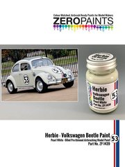 Zero Paints: Paint - Herbie #53 Volkswagen Beetle white