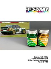 Zero Paints: Set de pinturas - Verde y dorado BMW M3 MM-Diebels DTM - 2 x 30ml - para la referencia de Studio27 ST27-DC1179
