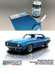 Zero Paints: Paint - Chevrolet Le Mans Blue Paint 60ml (Fast and Furious '69 Chevy Camaro Yenko) - for Revell reference REV7132 image