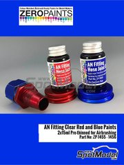 Zero Paints: Paint - AN fitting clear blue and red - 2 x 30ml
