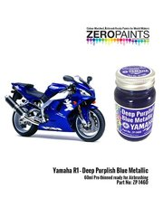 Zero Paints: Paint - Yamaha R1 Deep purplish blue metallic - 60ml - for Tamiya reference TAM14133