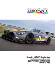 Zero Paints: Paint - Designo Selenit Magno Mercedes Benz AMG GT3 metallic grey - 1 x 60ml - for Tamiya references TAM24345 and 24345